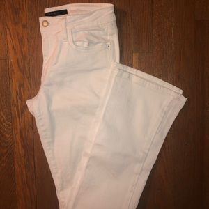 Joe's Jeans white flare jeans